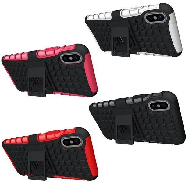 Case For IPhone 6 6S 7 8 Plus X Belt Clip Holster Stand Hybrid Hard Case For IPhone 5 5S 5C SE Cases Shockproof Fundas