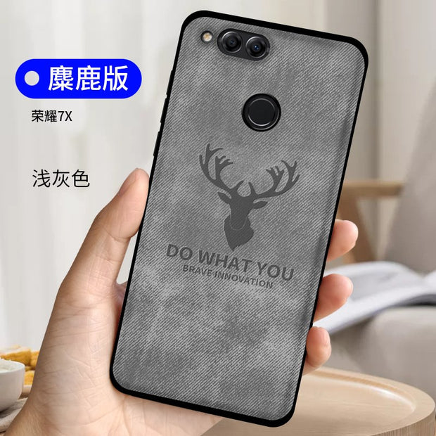 Case For Huawei Honor 7X Case Cover Silicon Cloth Deer Funda For
