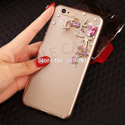 "Case For Huawei Honor 7A DUA-L22 5.45"" Russian Version Clear Plastic Fashion Rhinestone Case For Huawei Honor 7A DUA-L22 Cover"