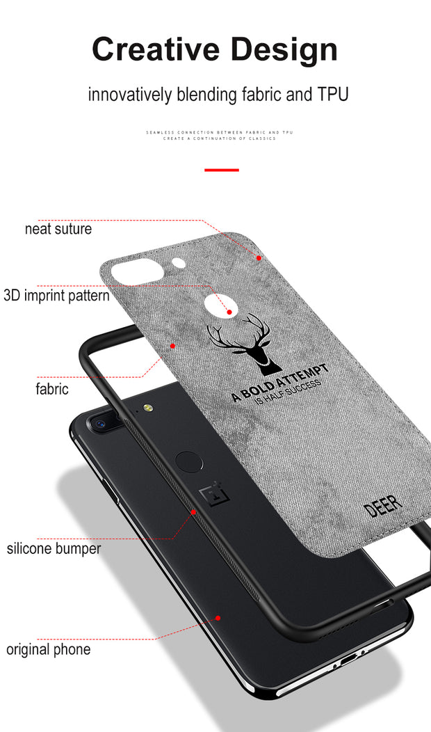 los angeles d12f2 1381a Classic Fabric Case For OnePlus 6T Cases Soft Silicone Frame Back ...
