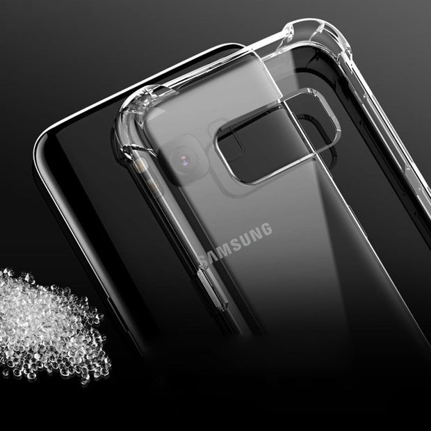 Clear Anti-knock Silicon Case For Samsung Galaxy A9S A6S S10 A6 A8 S9 S8 Plus Note 8 9 J8 J6 J4 J7 2018 A3 A5 A7 J3 J5 J7 S7 S6