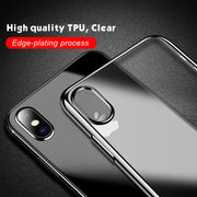 Clear Plating TPU Case For IPhone XS Max XR X 6S 7 8 Plus Ultra Thin Transparent Clear Soft Silicone Protector Back Cover Fundas