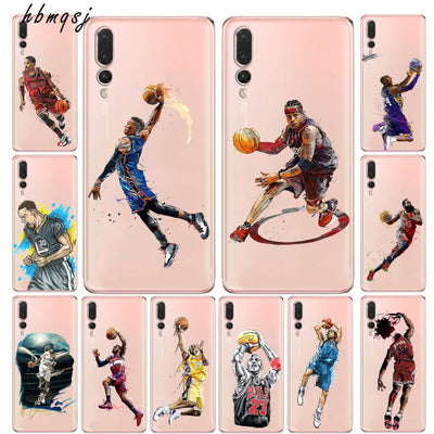 Cool For Huawei Honor 8x Case Silicone Soft Nba Player Jordan Cartoon Kobe Athlete For Huawei Honor 8x Mobile Phone Back Cover
