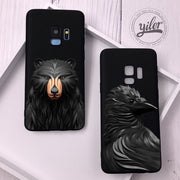 Coque For Samsung Galaxy S9 Case FOX For S9 Cases 3D Lion Bear Texture Case For Funda Samsung Galaxy S9 S7 Edge S8 Plus S8 Case