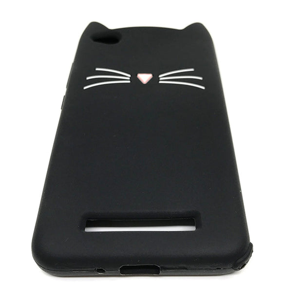 Cover Case For Xiaomi Redmi 4A Cover Coque Silicone Cute Cat Ears Case For Xiaomi Redmi 4A 4 A Redmi4A Phone Bag Fundas Capinha