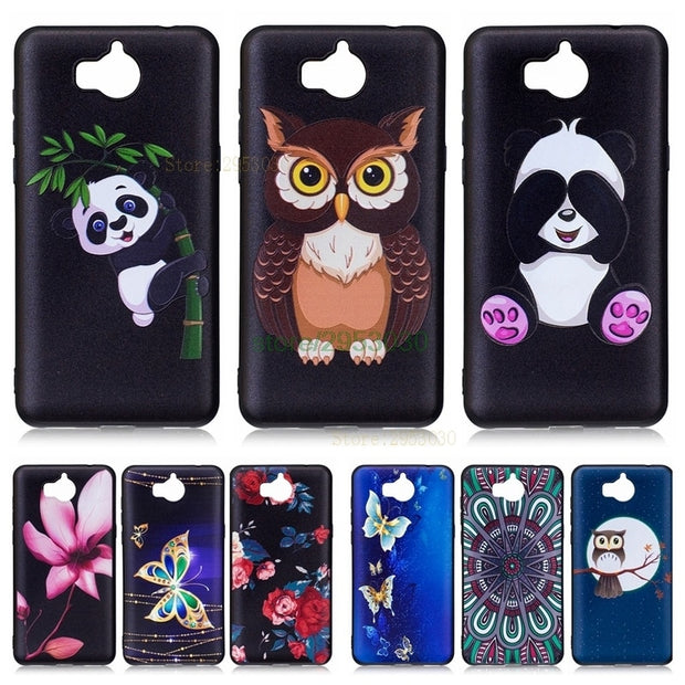 Cover Case For Huawei Y5 Y 5 2017 MYA-L22 MYA-L02 Black TPU Silicone Case  Fundas Coque For Huawei MYA L22 L23 L02 Phone Bags