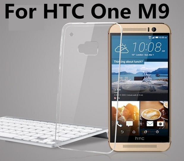 Crystal Ultra Thin Transparent Soft Silicone TPU Case For HTC One M7 M8 M9 M9 Plus M8mini For HTC Desire 816 820 E8 A9 526