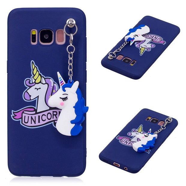 Cute 3D toy unicorn phone Cases For