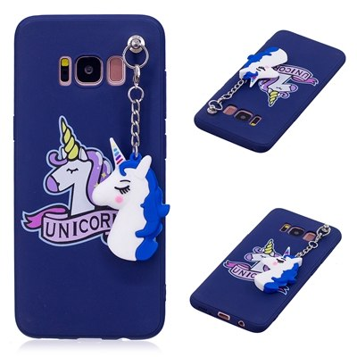 timeless design 43bf9 c0b3f Cute 3D Toy Unicorn Phone Cases For Coque Samsung Galaxy S8 Case Plus Soft  Silicon Case Back Cover For Samsung S8 S 8 Plus Case