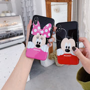 Cute Cartoon Mickey Minnie Soft IMD Case For IPhone XS XR XS MAX Case For IPhone X 6 6S 7 8 Plus Case