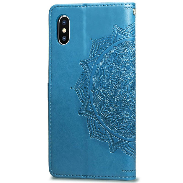 Cute Datura Flower Leather Cover For IPhone 8 7 Plus 6 6S X Anti-knock PU Skin Wallet Card Cases Cover For IPhone XS Max XR