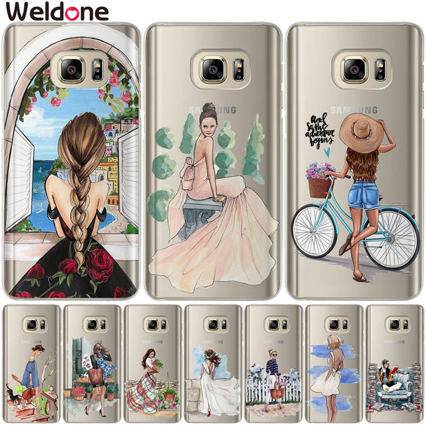 Cute Lovely New Arrival Fashion Girls Case For Samsung S9 Plus S7 S6 Edge S8 Plus G530 J3 J7 J5 J2 Prime 2016 2017 Covers Etui