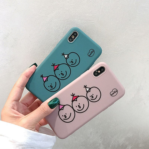 Cute Smile Snowman Phone Case For Iphone XR XS Max X Cases Cartoon Patterned Soft TPU Cover For Iphone 6 6s 7 8Plus Fundas Coque
