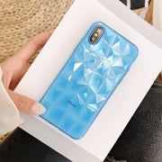 Diamond Texture Case For IPhone 6 6s 7 8 Plus X XR XS Max Soft Phone Cover For IPhone 7 Luxury Multicolor Transparent Ultra Thin