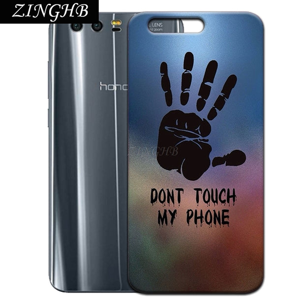 "'Don't Touch My Phone' Personal Customize Pattern Soft TPU Silicone Case For Huawei Honor 9 5.15"" Anti-Scratch Cover"