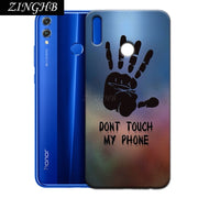 "'Don't Touch My Phone' Personal Customize Pattern Soft TPU Silicone Case For Huawei Honor 8X Max 7.12"" Anti-Scratch Cover"