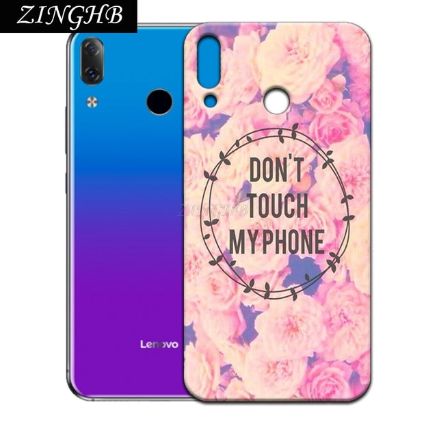 "'Don't Touch My Phone' Personal Customize Pattern Soft TPU Silicone Case For Lenovo Z5 6.2"" Anti-Scratch Cover"