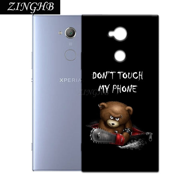 "'Don't Touch My Phone' Personal Customize Pattern Soft TPU Silicone Case For Sony Xperia XA2 Ultra 6.0"" Anti-Scratch Cover"