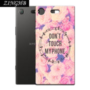"'Don't Touch My Phone' Personal Customize Pattern Soft TPU Silicone Case For Sony Xperia XZ1 Compact 4.6"" Anti-Scratch Cover"