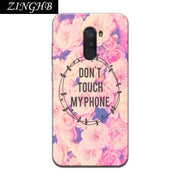 "'Don't Touch My Phone' Personal Customize Soft TPU Silicone Case For Xiaomi Poco F1 6.18"" Pocophone F1 Anti-Scratch Cover"