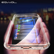 EQVVOL 360 Degree Airbag Shockproof Phone Case For Huawei P20 Lite 30 Pro Mate 20X Y9 2019 Cases For Honor 7A 8C Clear TPU Shell