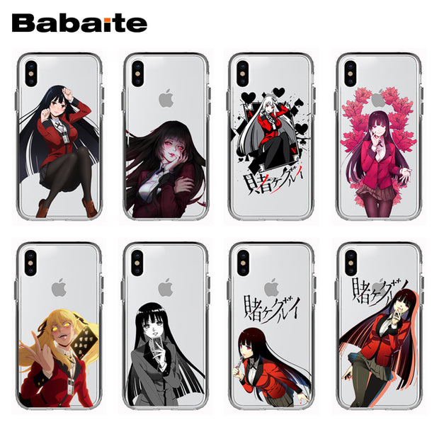 detailed look 649c4 42264 EXCLUSIVE HOMEMADE Babaite Anime Kakegurui Soft Silicone Phone Case Cover  For IPhone X 10 8 8Plus 7 7Plus 6 6S Plus 5 5S SE