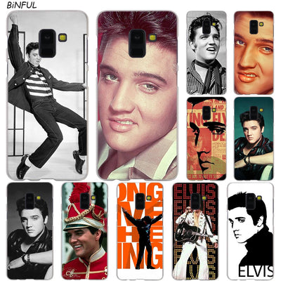 Elvis Presley Hot Fashion Transparent Case For Samsung Galaxy A3 A5 A9 A7 A6 A8 Plus 2018 2017 2016 Star A6S Note 9 8 Cover