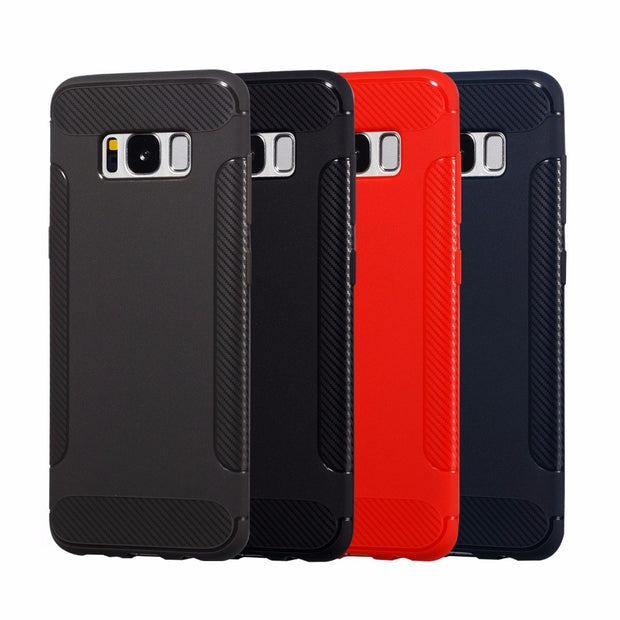 FGHGF Case For Samsung S8 S9 Plus Cover Shell Soft Silicone Highly Quality TPU Fiber Wings Case For Samsung Galaxy Note 8 9 Case