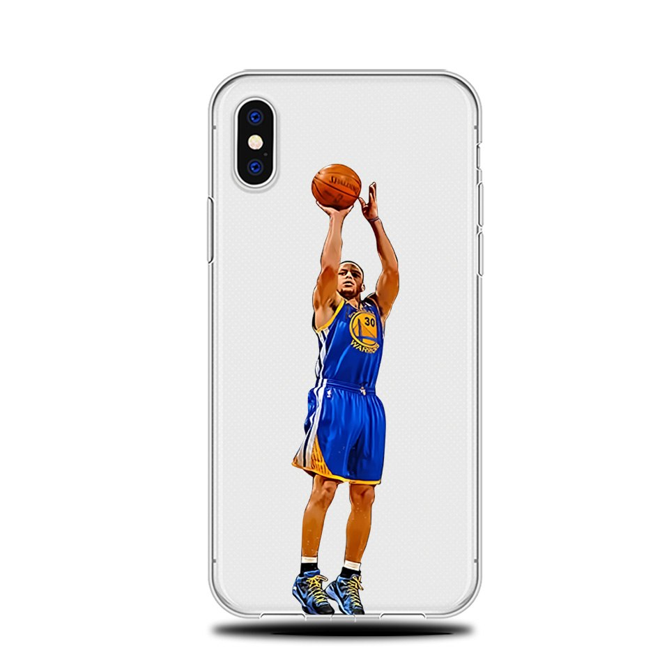 super popular a0015 a0f97 Famous NBA Basketball Player Stephen Curry Coque DIFFRBEAUTY Soft TPU  Silicon Phone Cases For IPhone X 5s Se 6s 7 8 Plus Capa