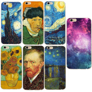 Fashion Art Van Gogh Starry Night Shell For Iphone X Case Cover Soft Silicone Bags For Iphone 5 5s 5se 6 6s 7 7 Plus 8 8 Plus