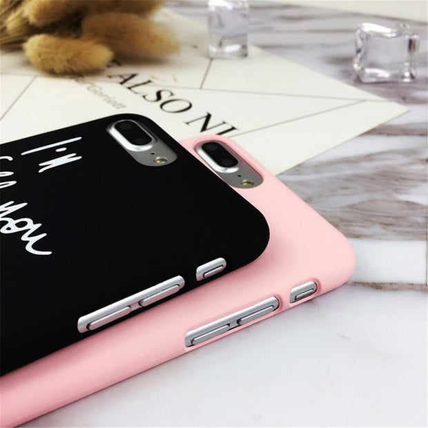 9858c57914 Fashion Cartoon Personality English Letter Black Pink Color Couple Ultra  Thin Case For IPhone 5 5S