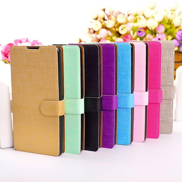 Fashion Leather Wallet Case For LG Magna G4c Class / Zero H740 Bello Flip Phone Cover For LG GOOGLE NEXUS 5 5X Card Slots Stand