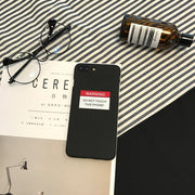 Fashion Letter Printing Mobile Phone Cases Printed Unisex Black, White For IPhone