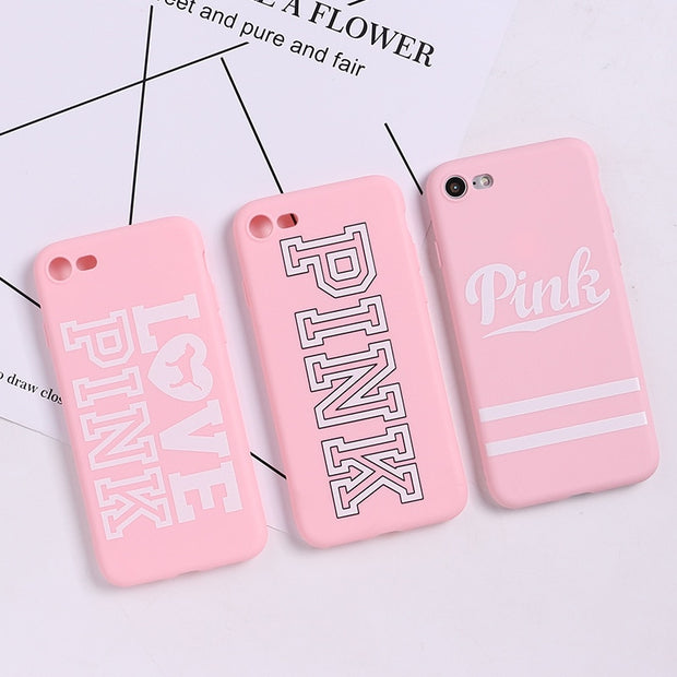 Fashion PINK Brand NEW Case For Iphone XS Max XR X Hot Cute Dog Case For IPhone 7 Plus 8 Plus 5 5s SE 6 6s Plus Soft TPU Cover