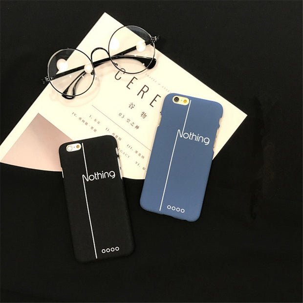 16d55776b5 Fashion Simple Letter Case Hard PC Cover For Iphone 6 Case Funny Cartoon  Frosted Phone Cases