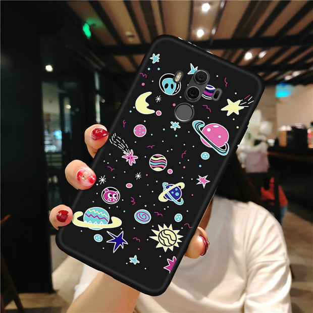 Fashion TPU Phone Case For Huawei Mate 20 Lite Mate 10 Pro Cute Pattern Painted Soft Cover For Huawei Mate 20 Pro Mate 20 X Capa