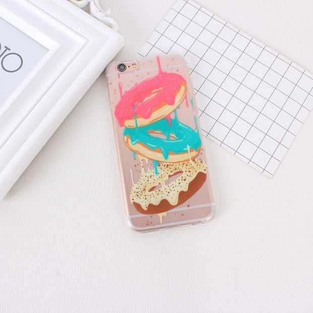 Fashion TPU Printing Pattern Phone Case For IPhone 5S 6S 7 6 6S 5 5C SE Protective Cover Bags Shell Skin Flowers