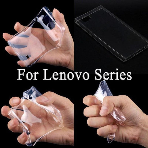 Flexible Ultra Thin Transparent Soft TPU Case For Lenovo K6 K5 K4 Note S90 A3800 A6000 A7000 A7010 A399 S60 A1010 Vibe B CASE
