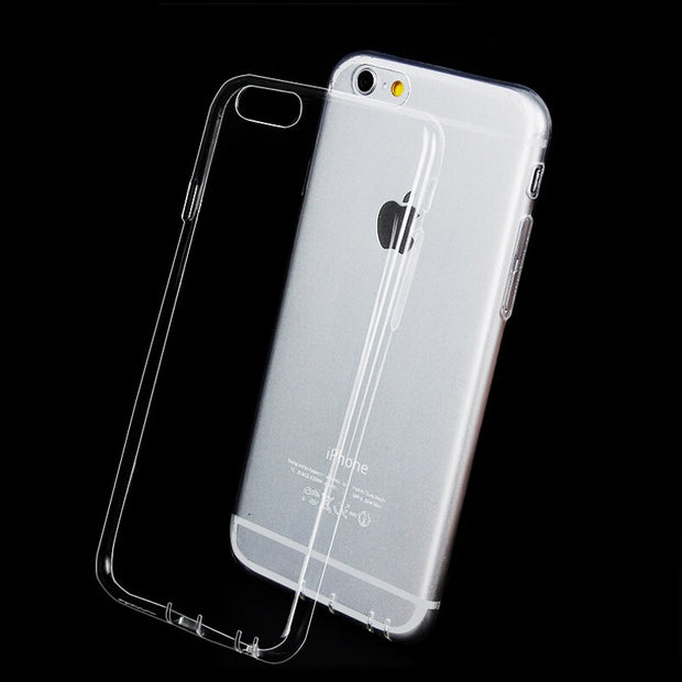Flexible Ultra Thin TPU Case For IPhone X 8 7 Plus 4 4S 5 5S 5SE 6 6S 6Plus Crystal Back Protective Transparent Silicone Cover
