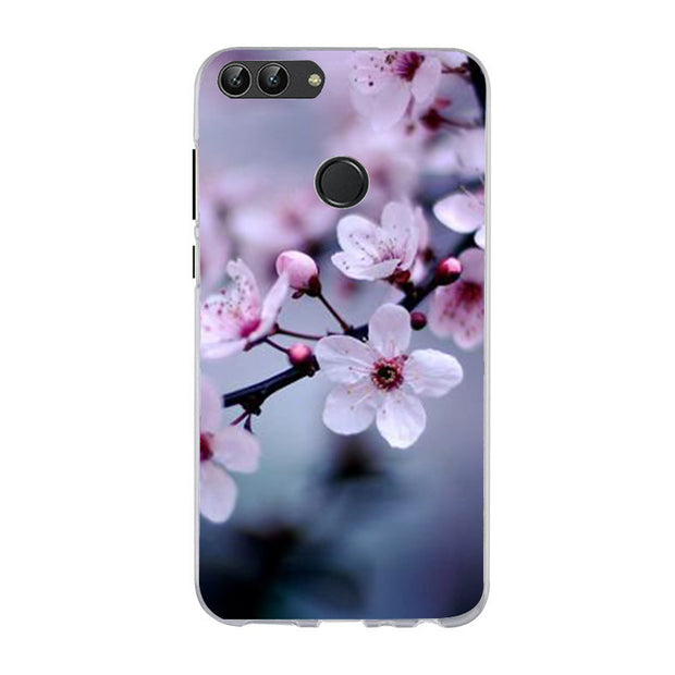 Floral Silicone Cases For Huawei P20Lite Mate 10 Lite Leaves Capa Phone Bags For Huawei Y3 Y5 2017 P Smart Cover Shell