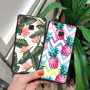 Flowers Printed Pattern Cell Phone Case For Huawei P9 P8 P10 P20 Lite Mate 10 Rose TPU Cover Fundas Shell For Honor 8 9 Lite