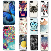 For Apple Iphone 6 6S 5 5S SE 4 4S 7 7 Plus Phone Bags Cases Soft Thin Tiger Cat Print Cases For Iphone 6 6S Shell