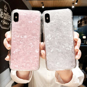 For Apple IPhone X Pouzdro Fashion Ultra Thin Conch Shell Pattern Squishy Soft Case Cover For IPhone X Etui Fundas Coque Capa