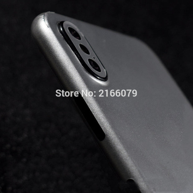 For Apple IPhone X XS Max Xr 8 7 6S Plus 5S SE Full Cover Back Body Simulation Metal Decal Sticker Matte Screen Protector Film