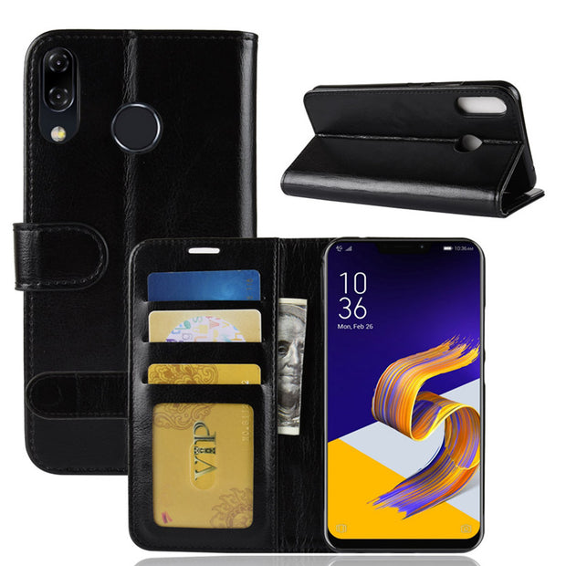 For Asus Zenfone 5z ZS621K Case Flip PU Leather Phone Case For Asus Zenfone 5Z ZS 621KL ZS621KL 2018 Zenfone 5Z Case Cover