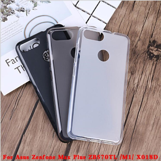 best loved 19f2a 5c161 For Asus Zenfone Max Plus M1 ZB570TL X018D Case Silicone Cover Soft TPU  Transparent Cover Funda Mobile Phone Cases