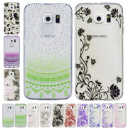 For Coque Samsung S6 Case Printing Vine Sunflower Silicone TPU Cover For Galaxy S6 SM-G9200 G9200 Floral Phone Case Coque P99Z