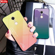 For Fundas Xiaomi Redmi 5 Plus Luxury Gradient Tempered Glass Shockproof Phone Cases For Xiaomi Redmi 5 Case Redmi 5 Plus Case
