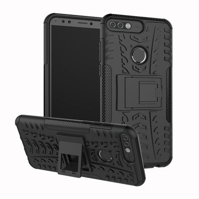 For HUAWEI Y7 2018 LDN-L01 LDN-L21 Case 5.99inch TPU & PC Dual Armor Cover With Stand Hard Silicone Cover For Huawei Y7 Pro 2018