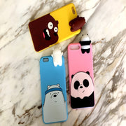 For Huawei Honor 9 Cover Case 3D Cute Cartoon We Bare Bears Brothers Funny Toys Soft Phone Case For Huawei Honor 9 Lite 9i Cover